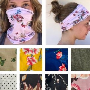 2/$20 Face Mask Headbands Stretchy Colorful Prints